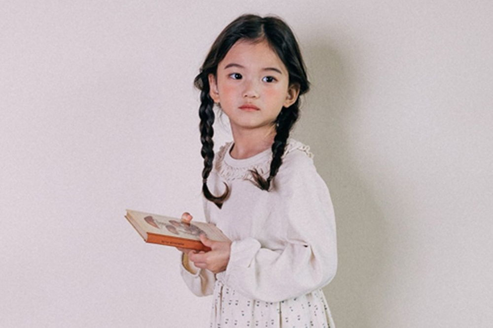 BONALOI - BRAND - Korean Children Fashion - #Kfashion4kids - Frill Long Tee