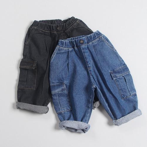 COMMENCER - BRAND - Korean Children Fashion - #Kfashion4kids - Denim Cargo Pants