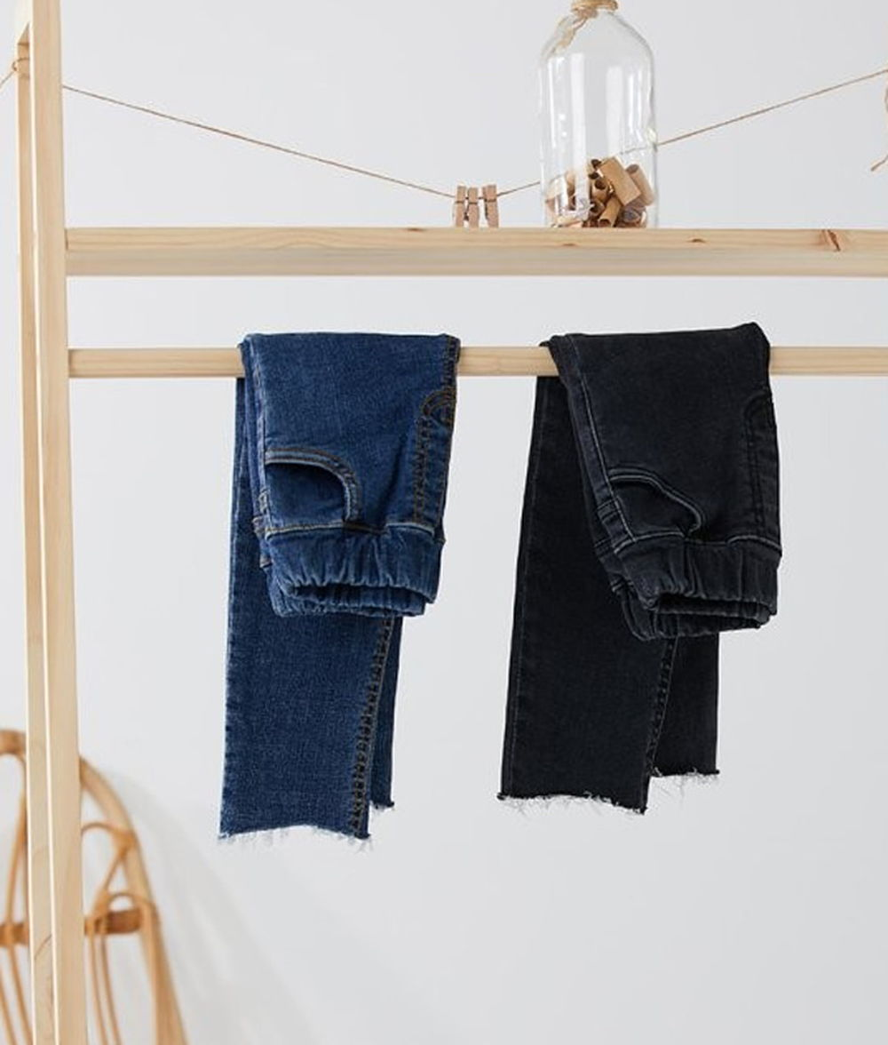 CREAMCOK - BRAND - Korean Children Fashion - #Kfashion4kids - Simple Cutting Denim Pants