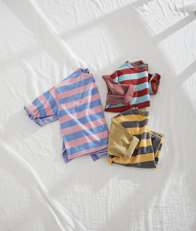 CREAMCOK - BRAND - Korean Children Fashion - #Kfashion4kids - So Much Stripe Tee