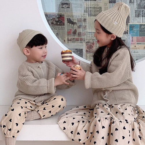 DAILY BEBE - BRAND - Korean Children Fashion - #Kfashion4kids - Knit Cardigan