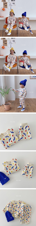 DAILY BEBE - Korean Children Fashion - #Kfashion4kids - Shape Top Bottom Set