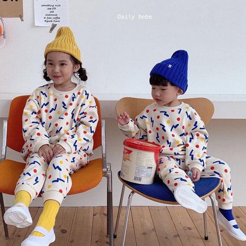 DAILY BEBE - BRAND - Korean Children Fashion - #Kfashion4kids - Shape Top Bottom Set