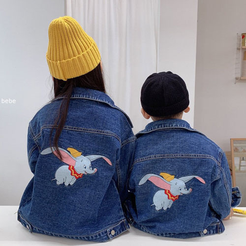 DAILY BEBE - BRAND - Korean Children Fashion - #Kfashion4kids - Dumbo Denim Jacket
