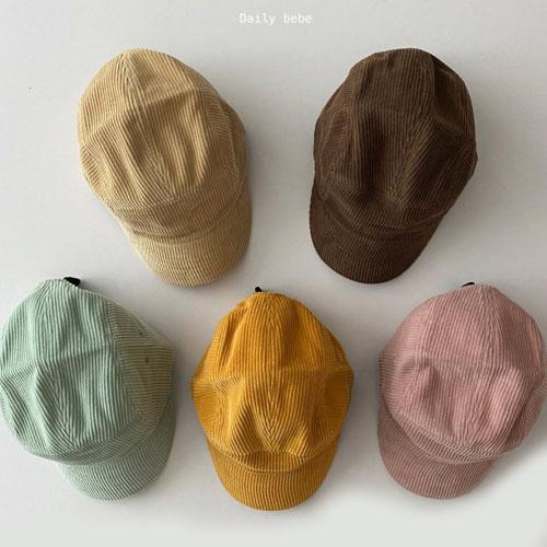 DAILY BEBE - BRAND - Korean Children Fashion - #Kfashion4kids - Corduroy Cap Hat