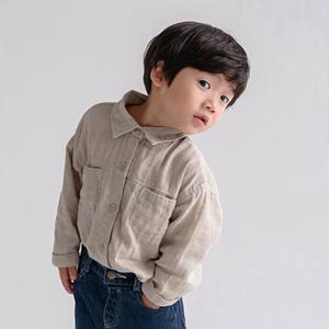 DE MARVI - BRAND - Korean Children Fashion - #Kfashion4kids - Pigment Pocket Shirt