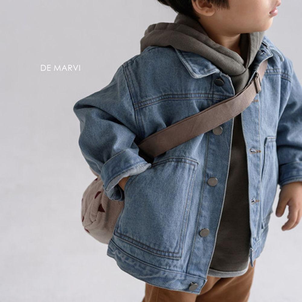 DE MARVI - BRAND - Korean Children Fashion - #Kfashion4kids - Collar Denim Jacket
