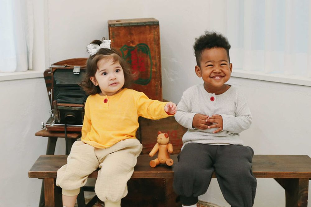 EEPPLE - BRAND - Korean Children Fashion - #Kfashion4kids - One Button Tee