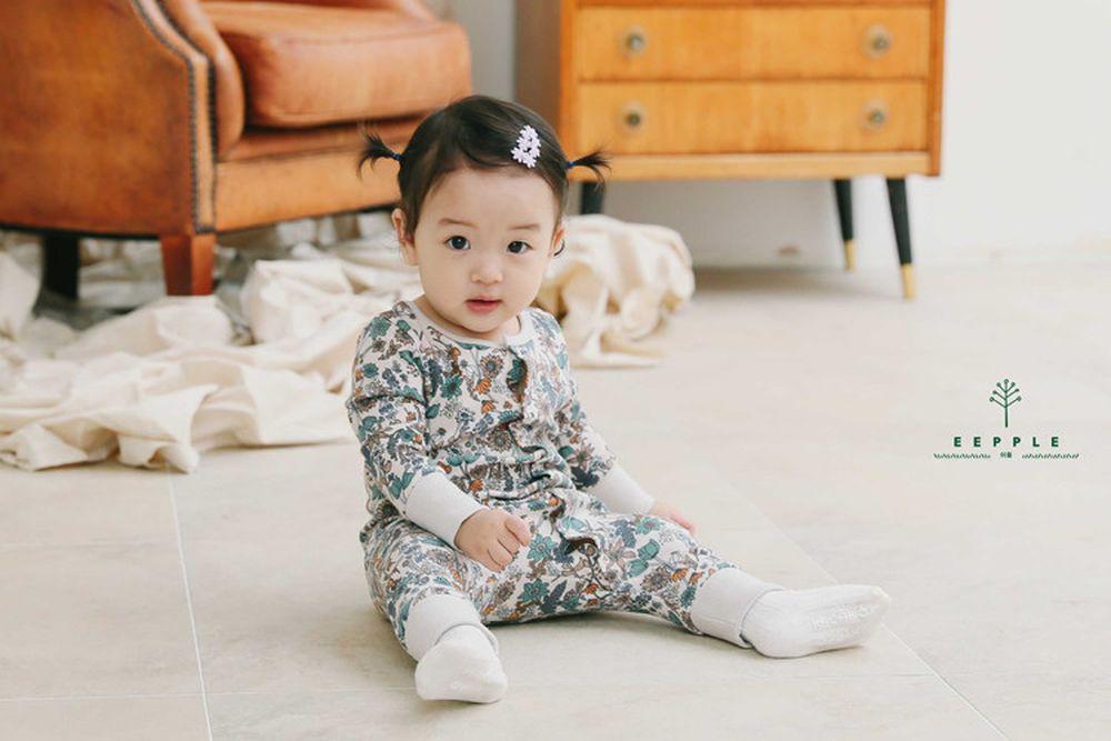 EEPPLE - BRAND - Korean Children Fashion - #Kfashion4kids - Flower Bodysuit
