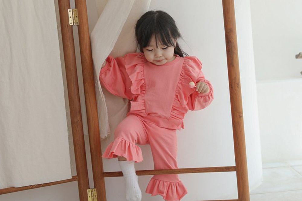 FLOWER J - BRAND - Korean Children Fashion - #Kfashion4kids - Praha Top Bottom Set