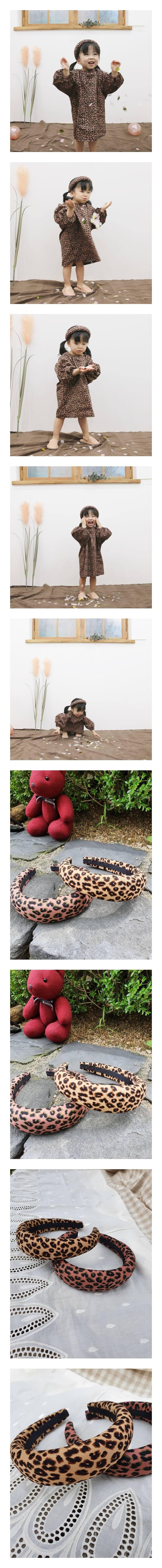 FLOWER J - Korean Children Fashion - #Kfashion4kids - Leopard Wide Hairband