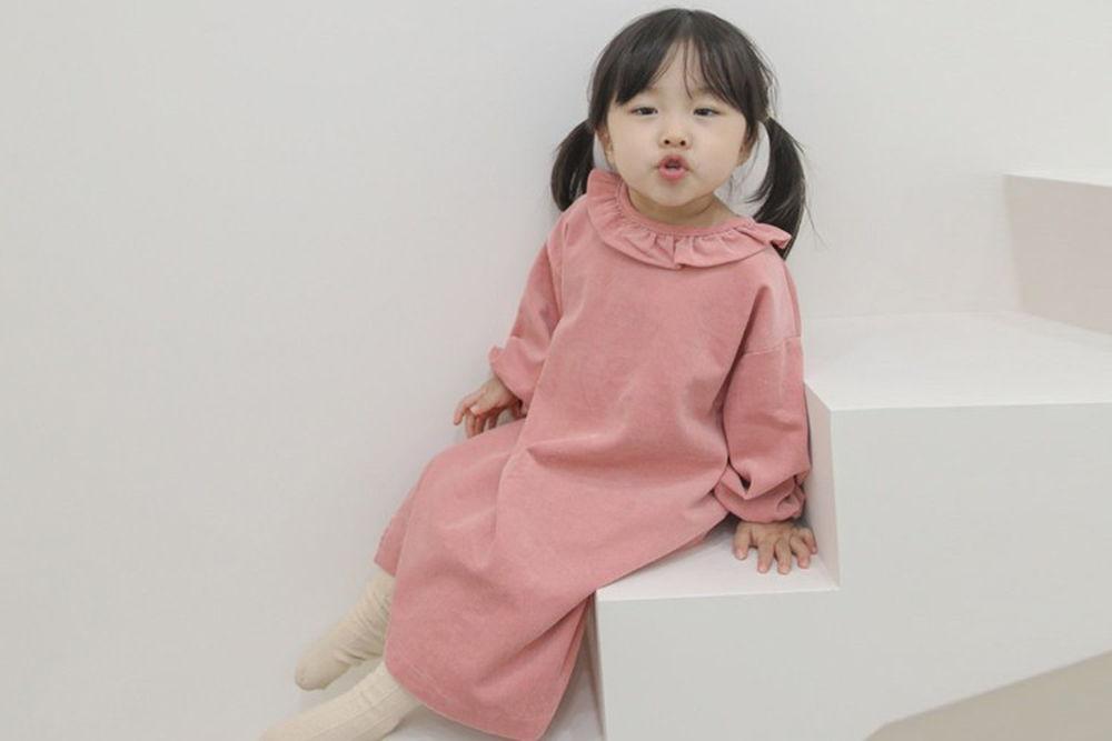 FLOWER J - BRAND - Korean Children Fashion - #Kfashion4kids - Corduroy One-piece