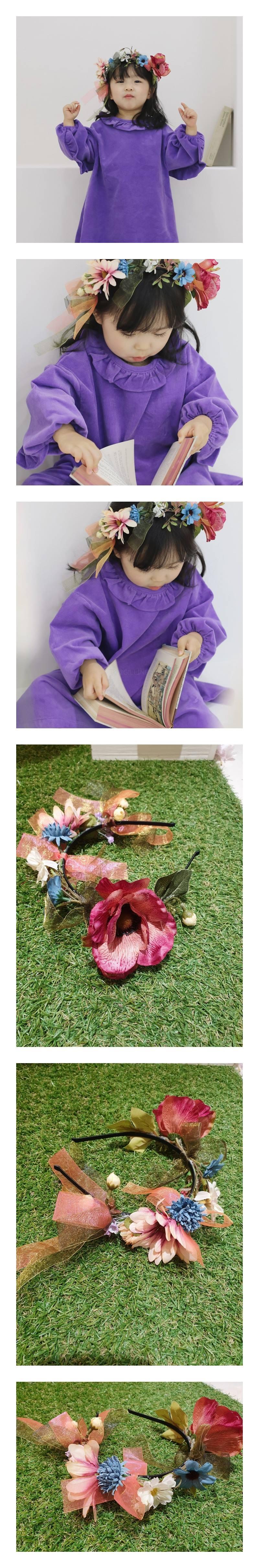 FLOWER J - Korean Children Fashion - #Kfashion4kids - Flower Hairband