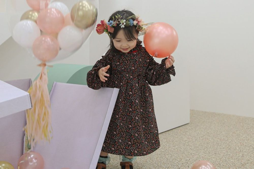 FLOWER J - BRAND - Korean Children Fashion - #Kfashion4kids - Bell Flower One-piece