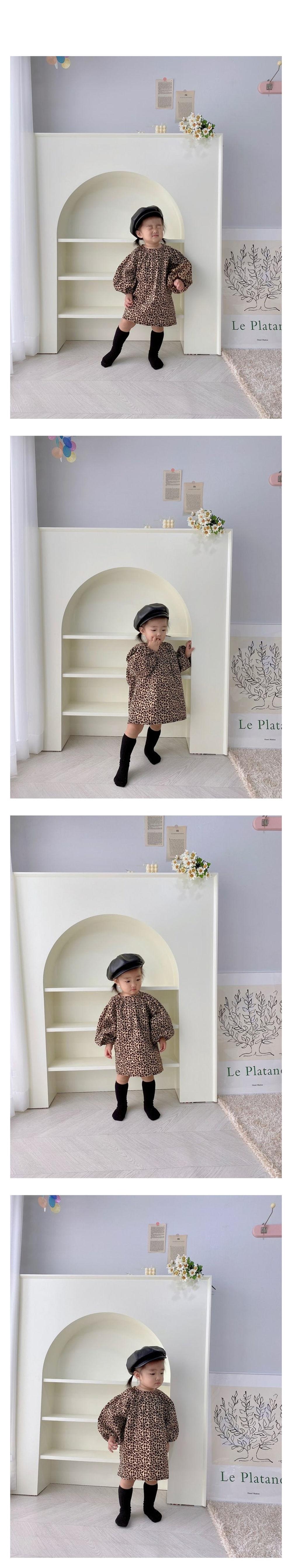 FLOWER J - Korean Children Fashion - #Kfashion4kids - Leopard One-piece