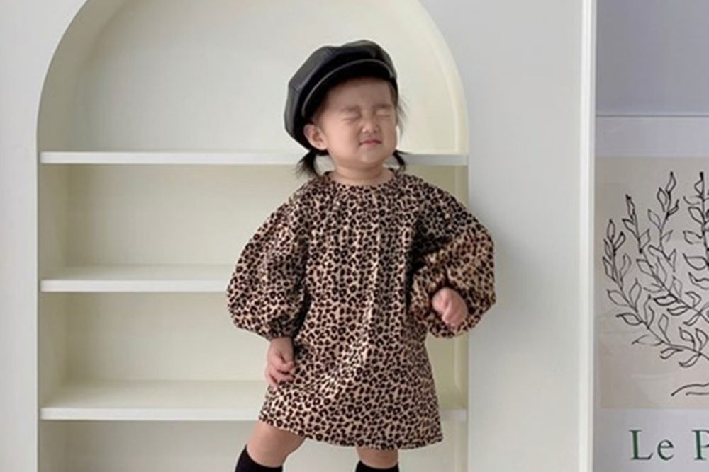FLOWER J - BRAND - Korean Children Fashion - #Kfashion4kids - Leopard One-piece