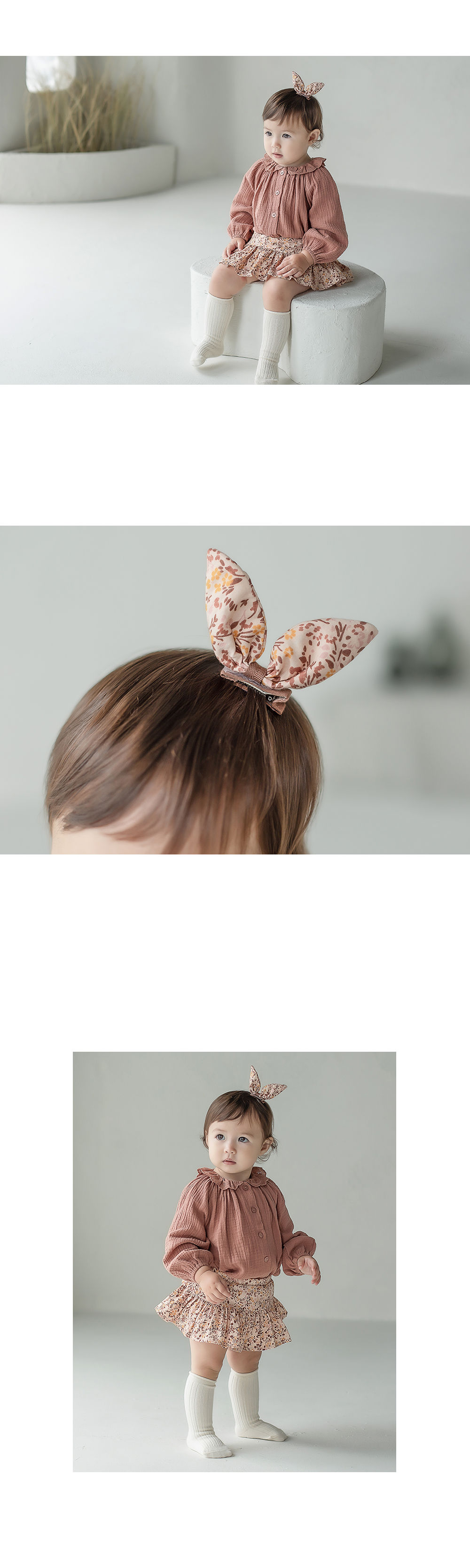 HAPPY PRINCE - Korean Children Fashion - #Kfashion4kids - Vienna Baby Hairpin [set of 5] - 3