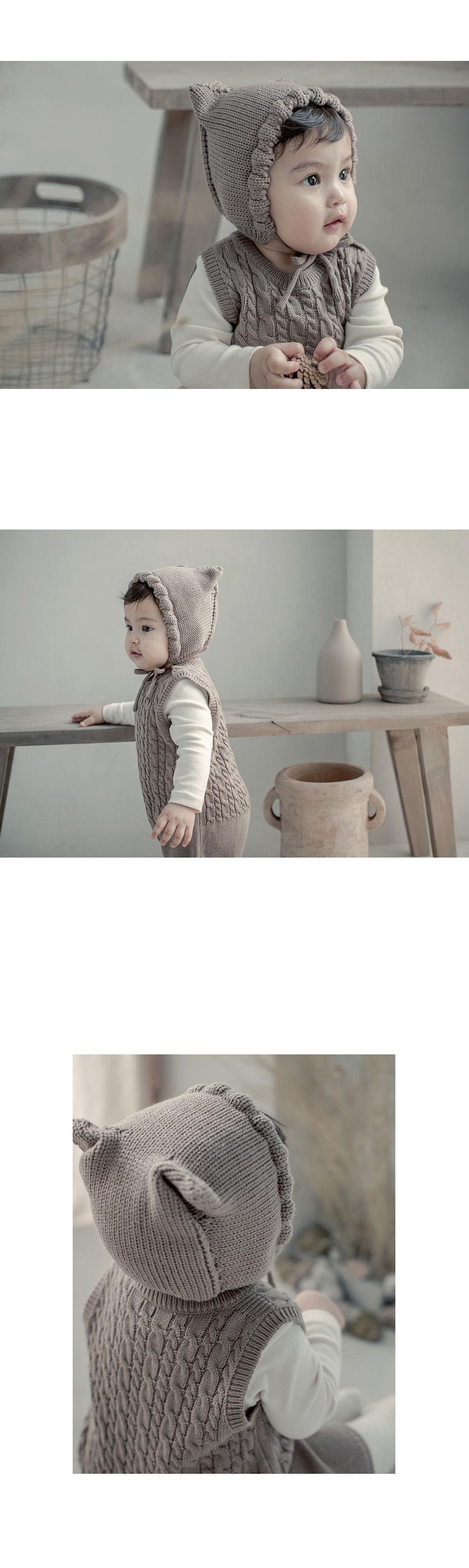 HAPPY PRINCE - Korean Children Fashion - #Kfashion4kids - Fla Knit Baby Bonnet - 3