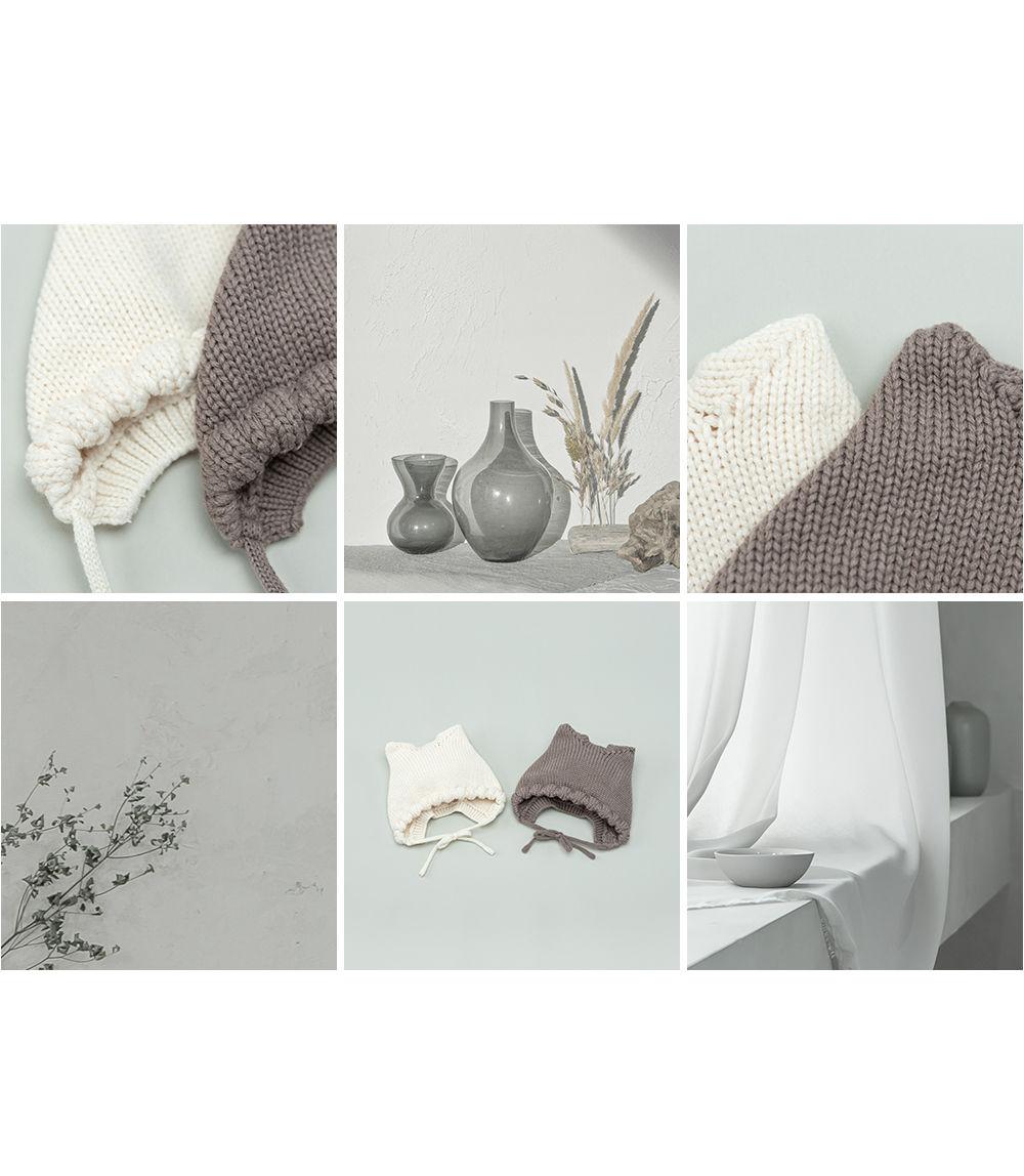 HAPPY PRINCE - Korean Children Fashion - #Kfashion4kids - Fla Knit Baby Bonnet - 4