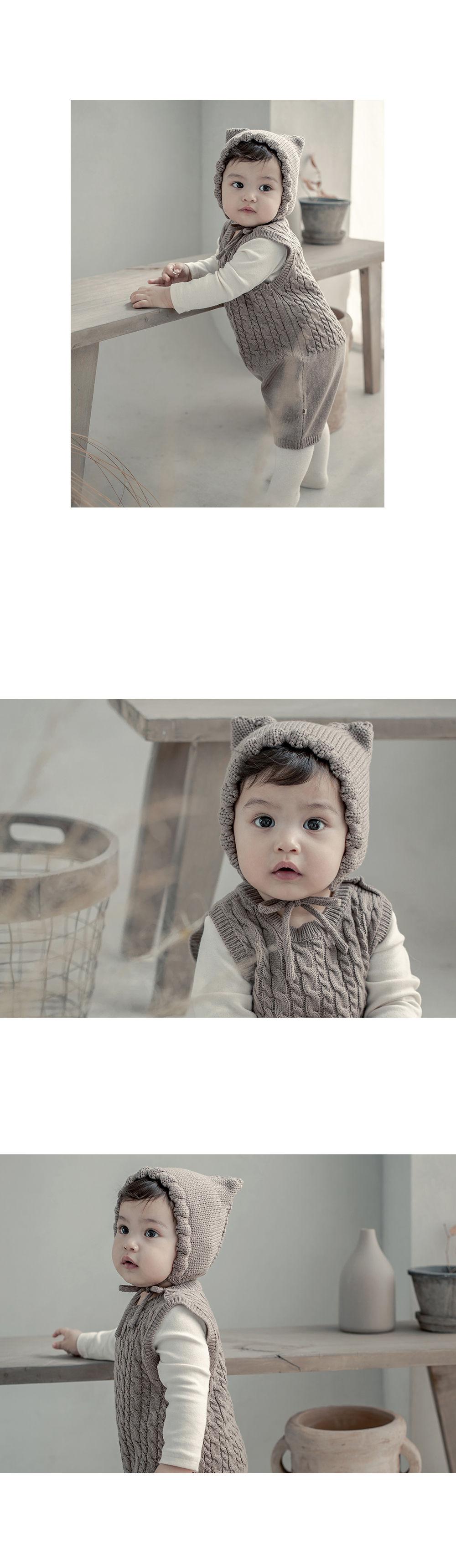 HAPPY PRINCE - Korean Children Fashion - #Kfashion4kids - Fla Knit Baby Bonnet - 5
