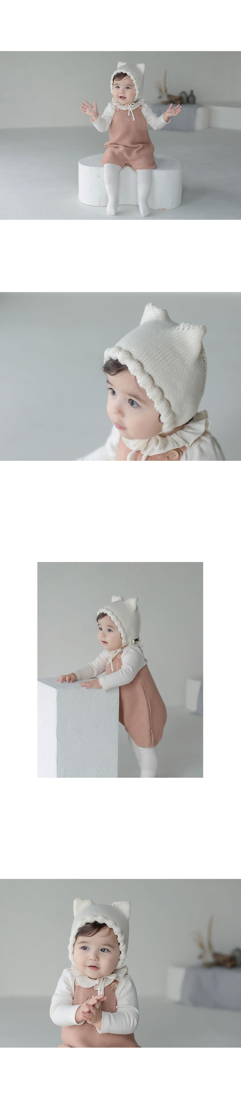 HAPPY PRINCE - Korean Children Fashion - #Kfashion4kids - Fla Knit Baby Bonnet - 6