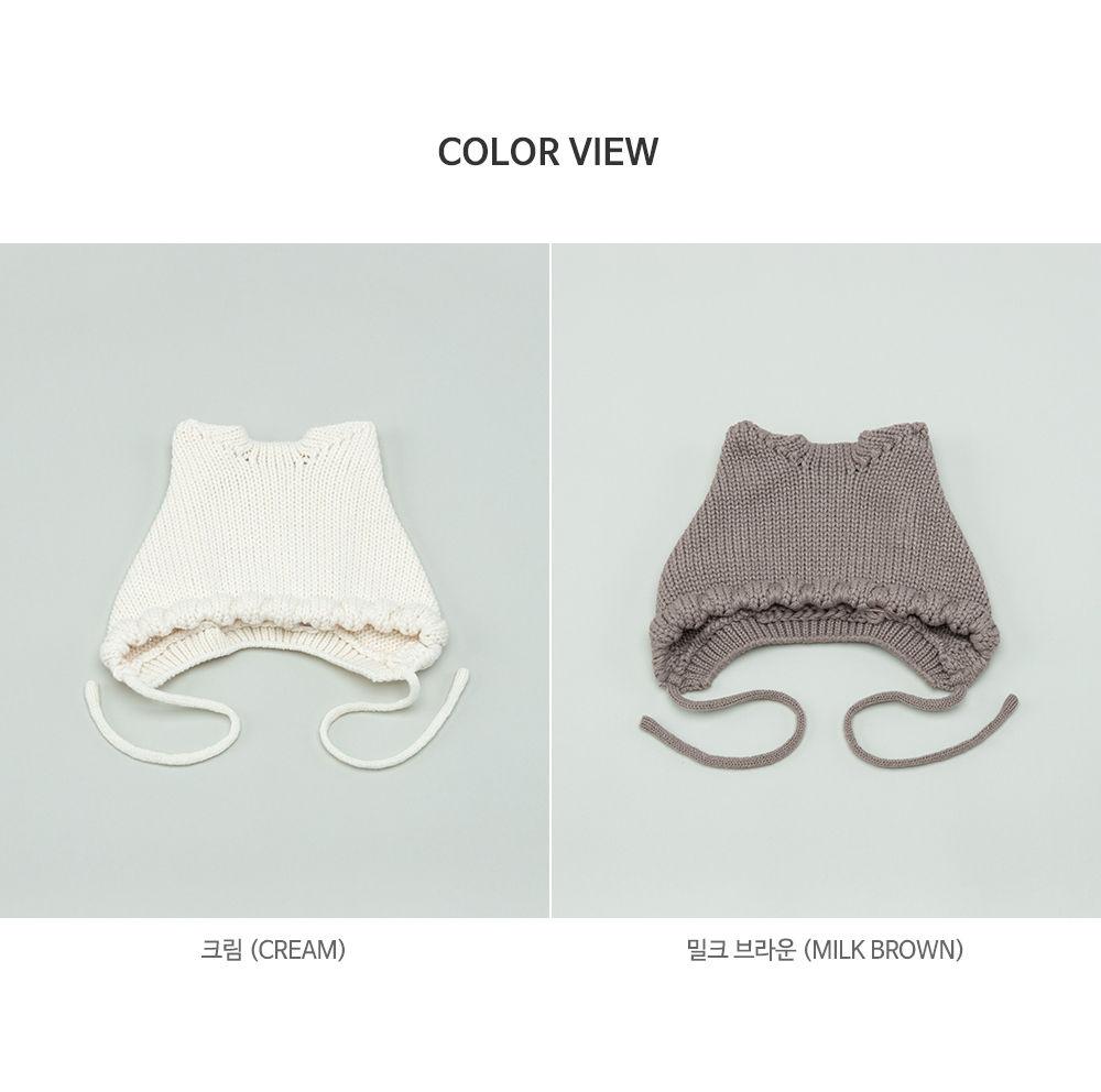 HAPPY PRINCE - Korean Children Fashion - #Kfashion4kids - Fla Knit Baby Bonnet - 8
