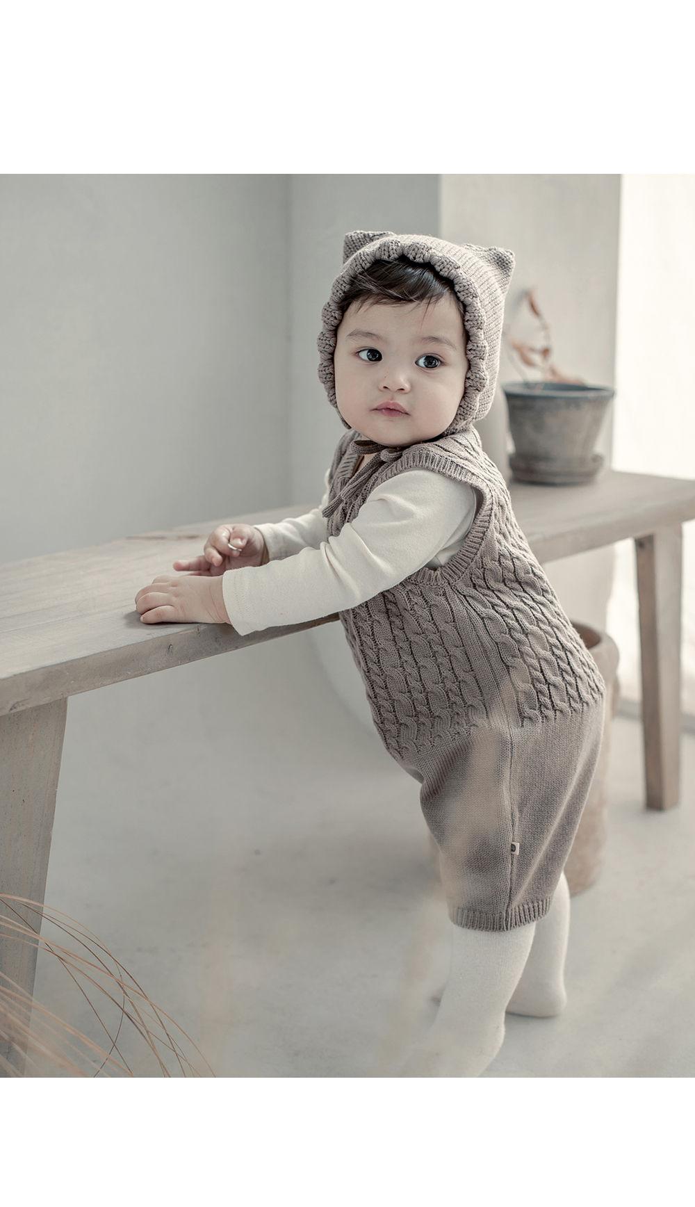 HAPPY PRINCE - Korean Children Fashion - #Kfashion4kids - Moi Knit Baby Coveralls