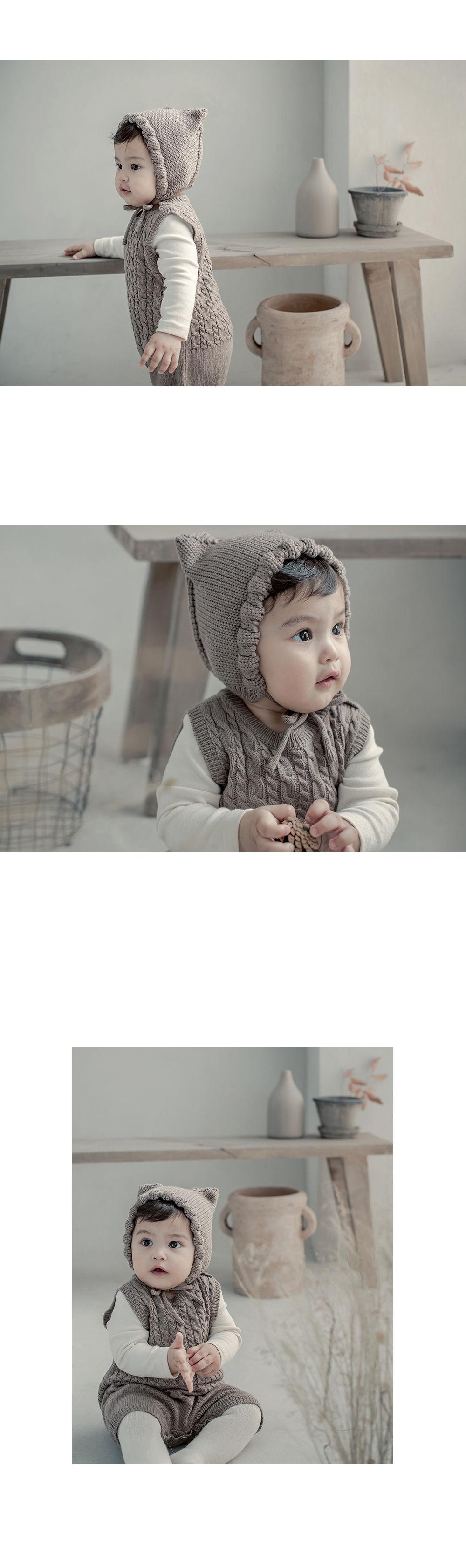 HAPPY PRINCE - Korean Children Fashion - #Kfashion4kids - Moi Knit Baby Coveralls - 3