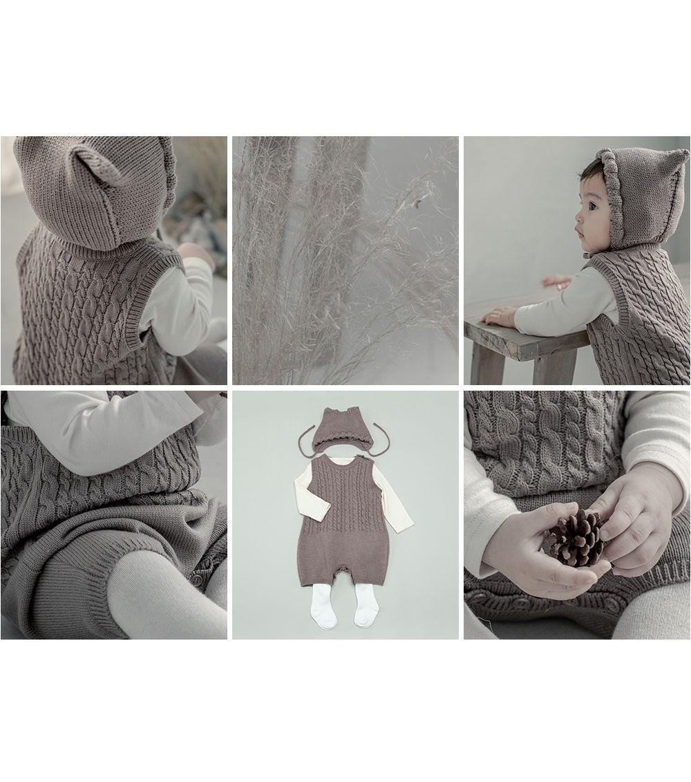 HAPPY PRINCE - Korean Children Fashion - #Kfashion4kids - Moi Knit Baby Coveralls - 4
