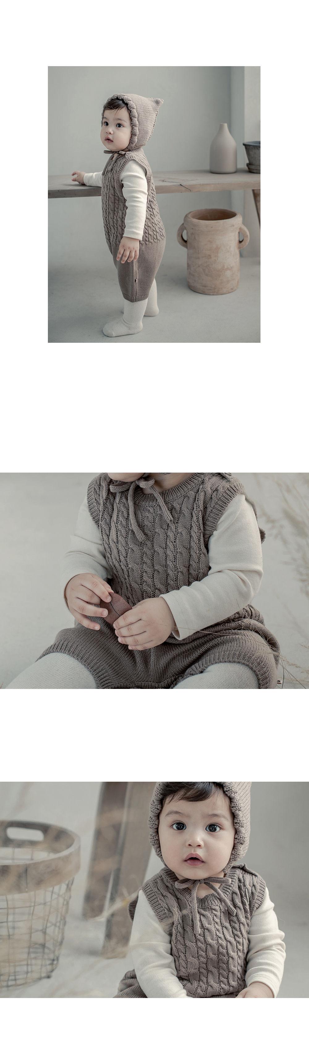 HAPPY PRINCE - Korean Children Fashion - #Kfashion4kids - Moi Knit Baby Coveralls - 5