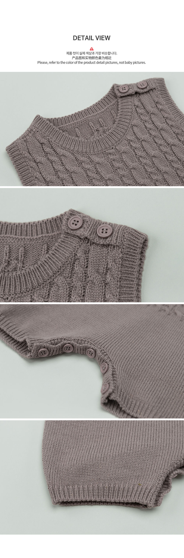 HAPPY PRINCE - Korean Children Fashion - #Kfashion4kids - Moi Knit Baby Coveralls - 6