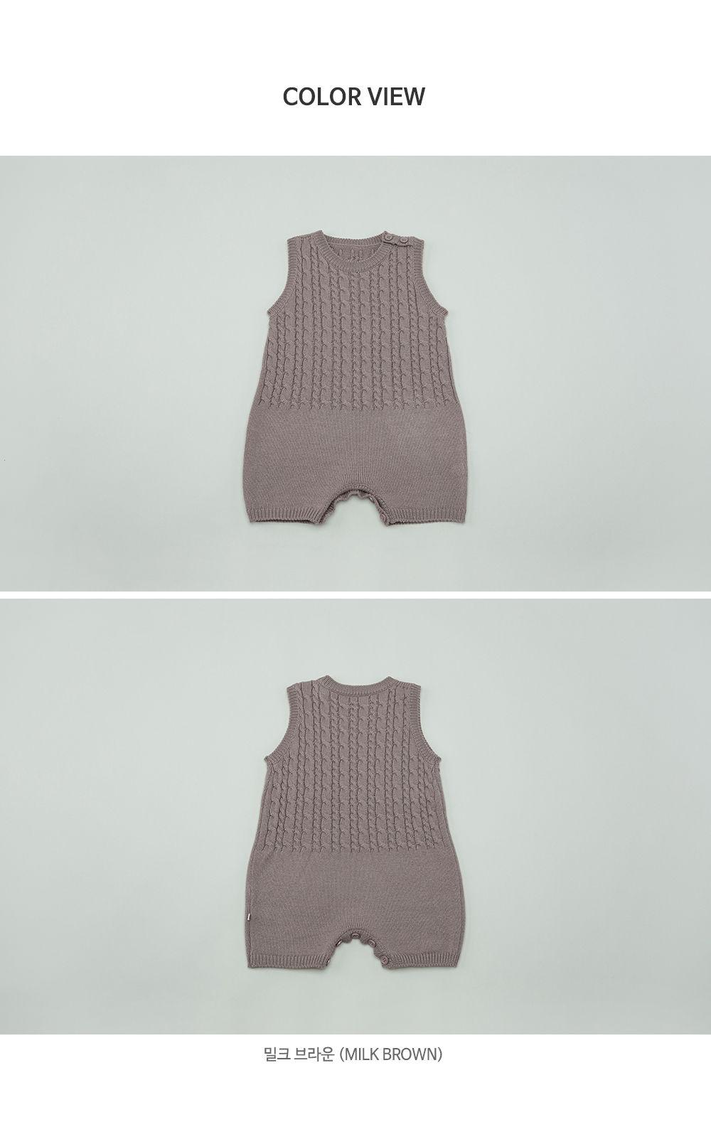 HAPPY PRINCE - Korean Children Fashion - #Kfashion4kids - Moi Knit Baby Coveralls - 7