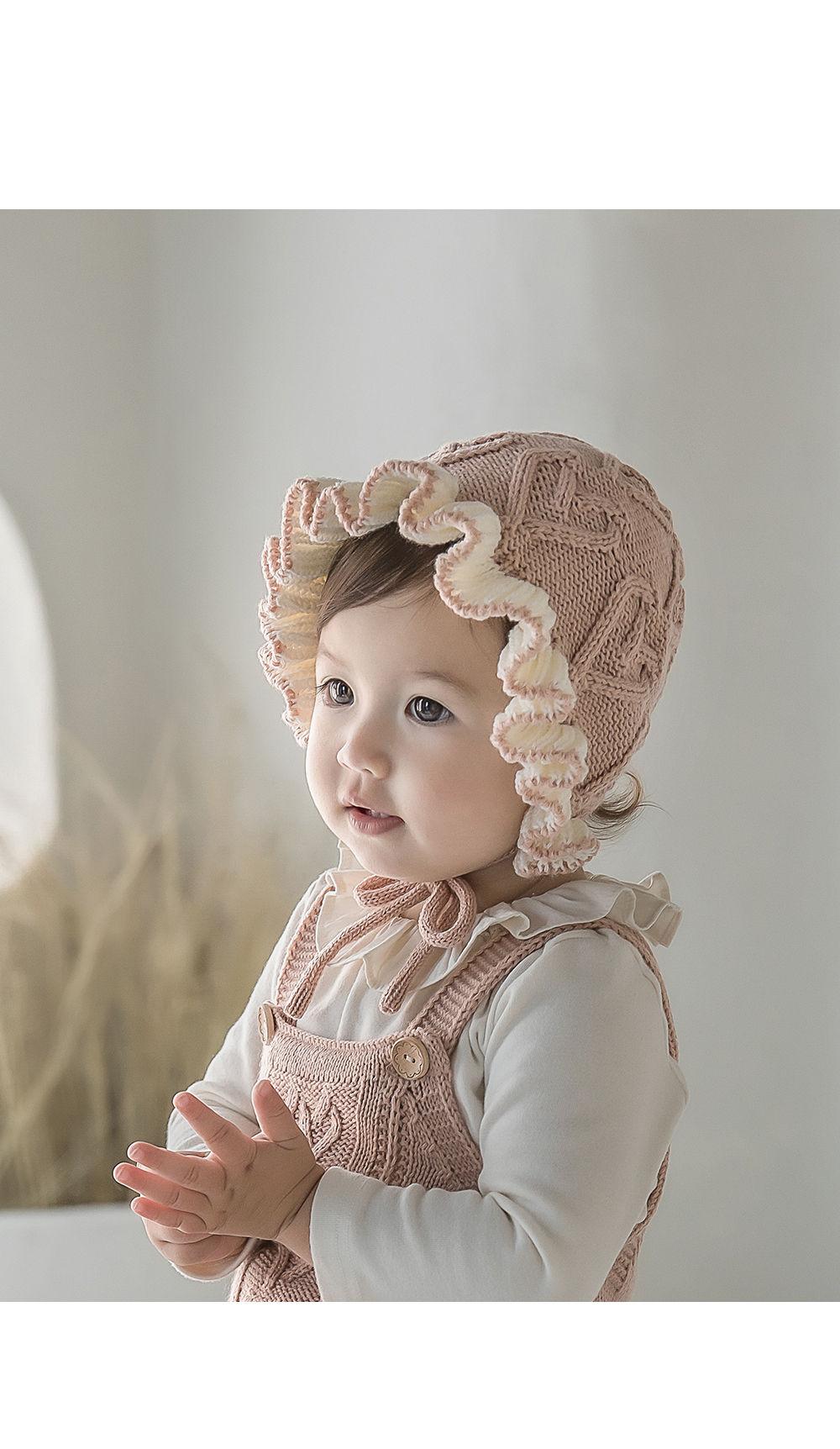HAPPY PRINCE - Korean Children Fashion - #Kfashion4kids - Pauline Knit Baby Bonnet