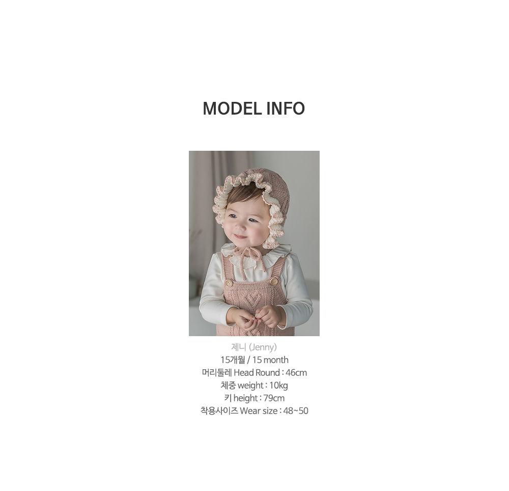 HAPPY PRINCE - Korean Children Fashion - #Kfashion4kids - Pauline Knit Baby Bonnet - 10