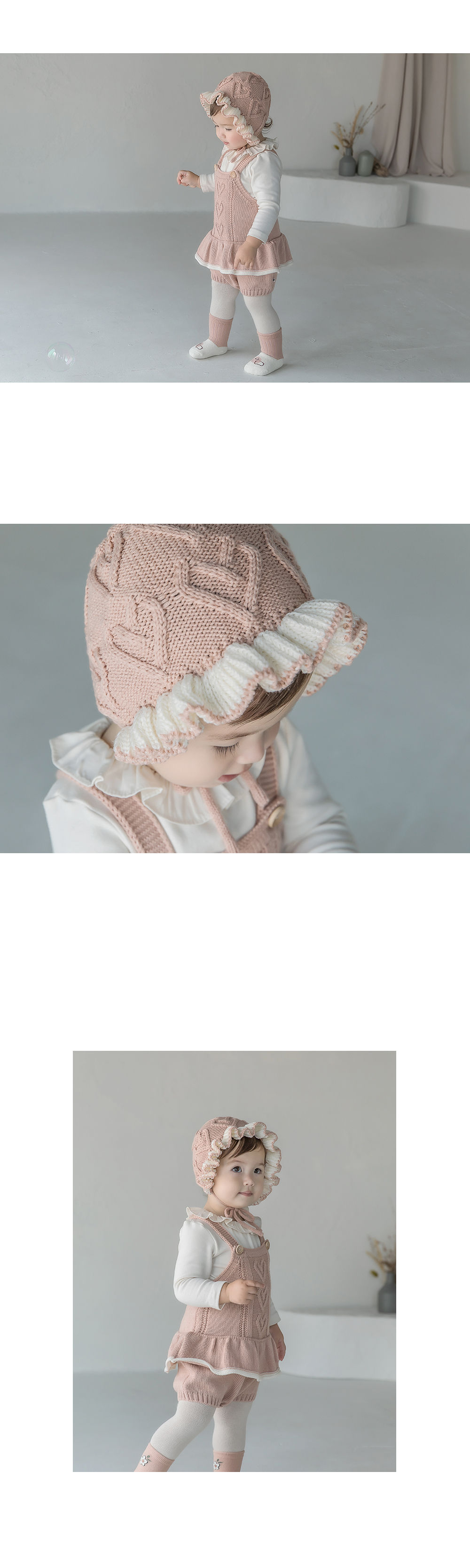 HAPPY PRINCE - Korean Children Fashion - #Kfashion4kids - Pauline Knit Baby Bonnet - 3