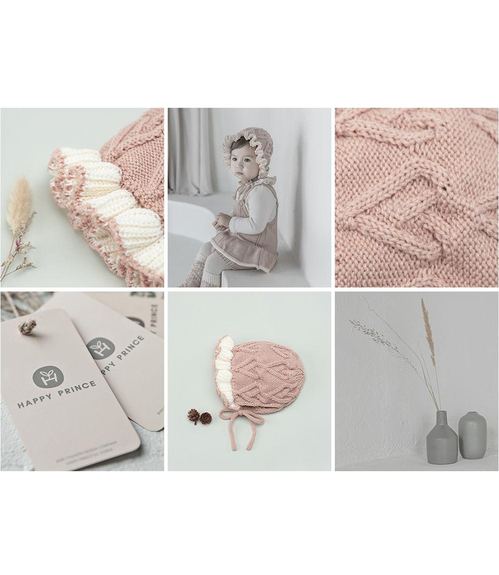 HAPPY PRINCE - Korean Children Fashion - #Kfashion4kids - Pauline Knit Baby Bonnet - 4