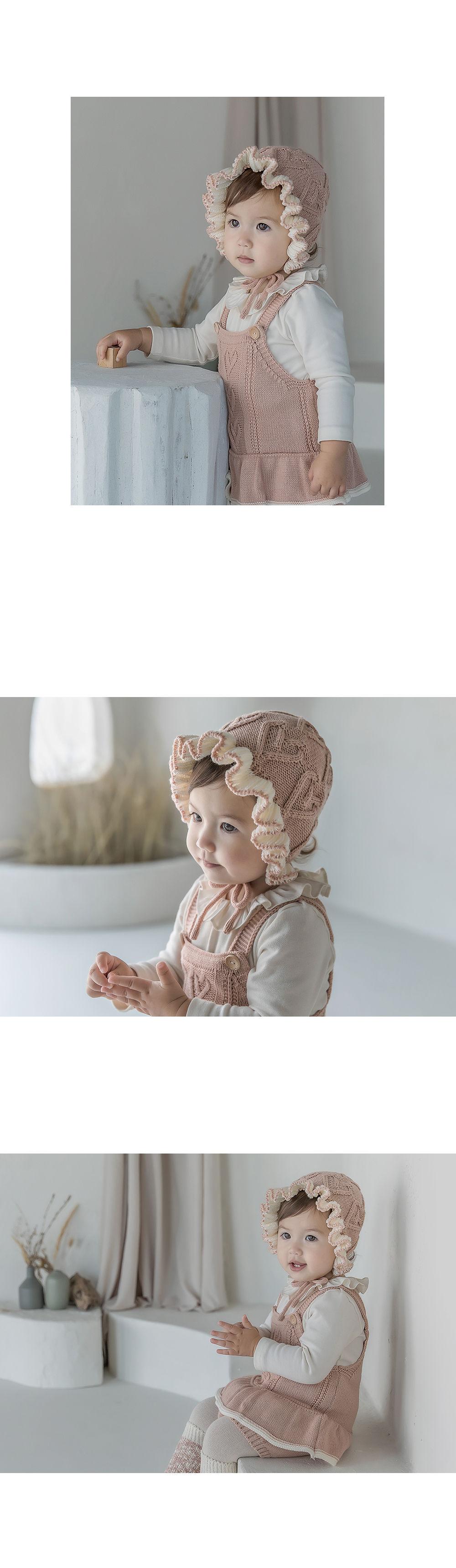 HAPPY PRINCE - Korean Children Fashion - #Kfashion4kids - Pauline Knit Baby Bonnet - 5
