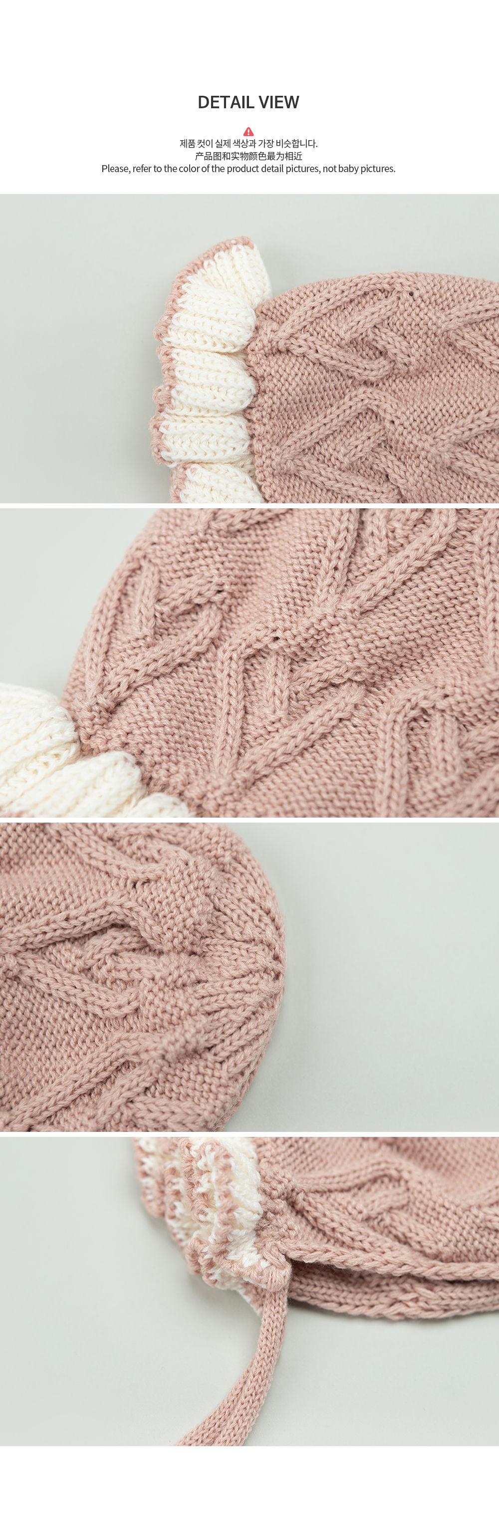 HAPPY PRINCE - Korean Children Fashion - #Kfashion4kids - Pauline Knit Baby Bonnet - 6