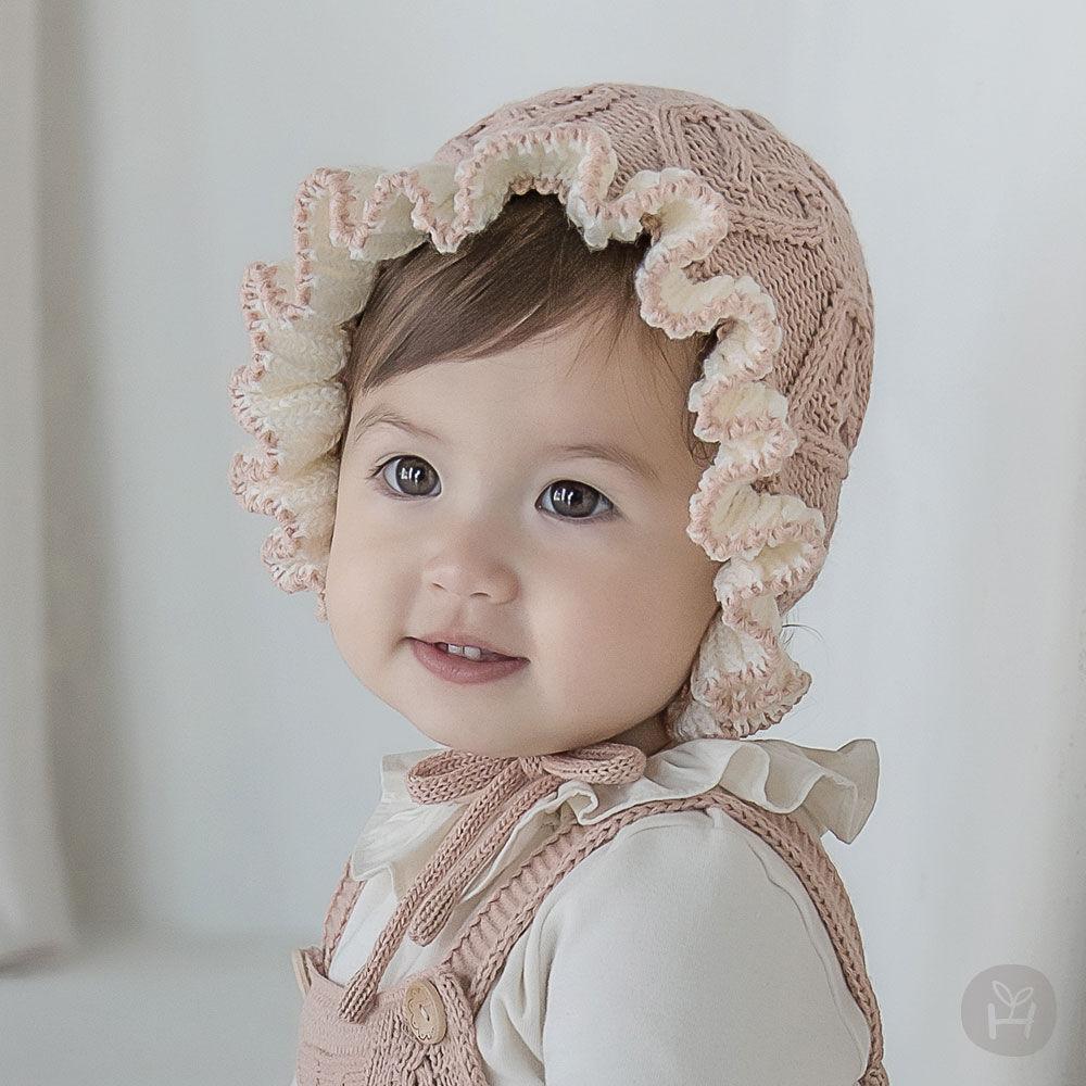 HAPPY PRINCE - BRAND - Korean Children Fashion - #Kfashion4kids - Pauline Knit Baby Bonnet