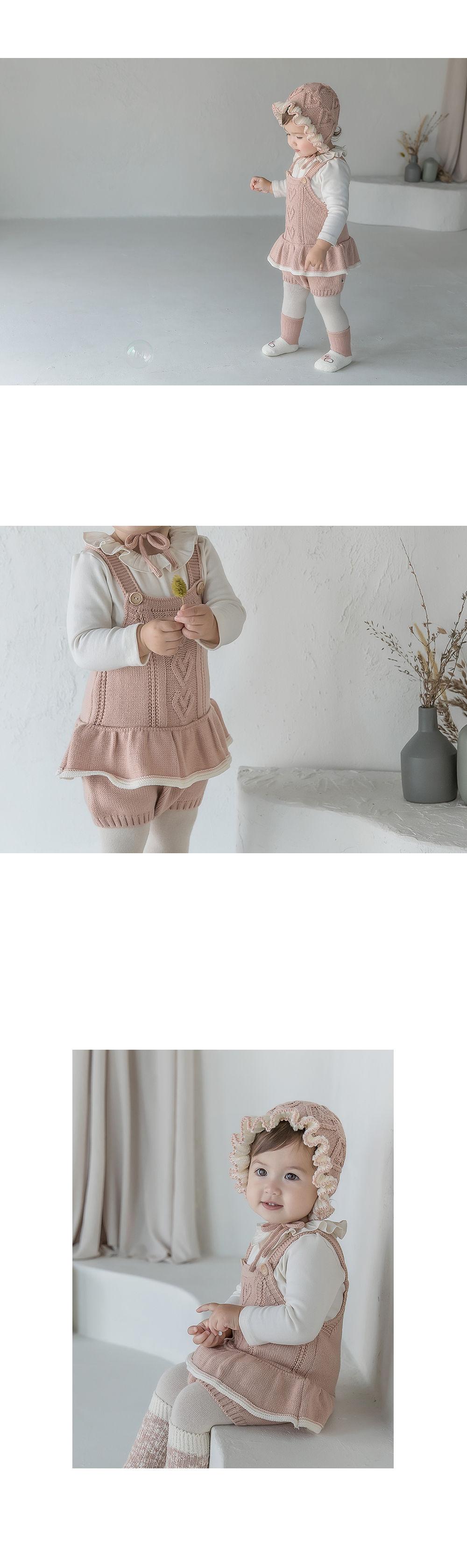 HAPPY PRINCE - Korean Children Fashion - #Kfashion4kids - Pauline Knit Baby Overall - 3