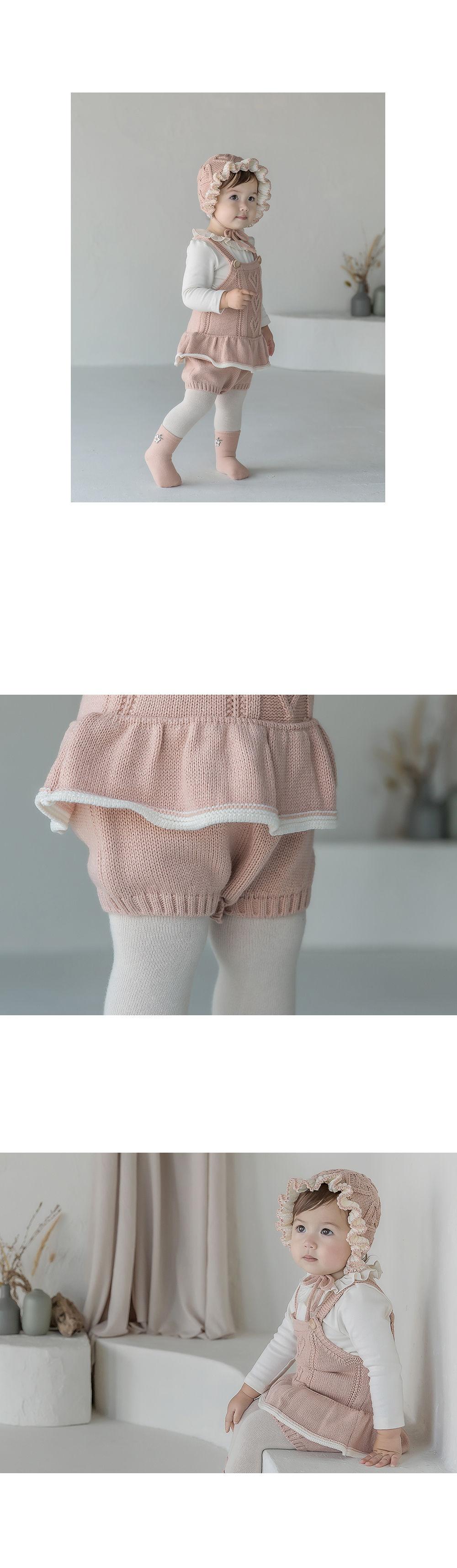 HAPPY PRINCE - Korean Children Fashion - #Kfashion4kids - Pauline Knit Baby Overall - 5