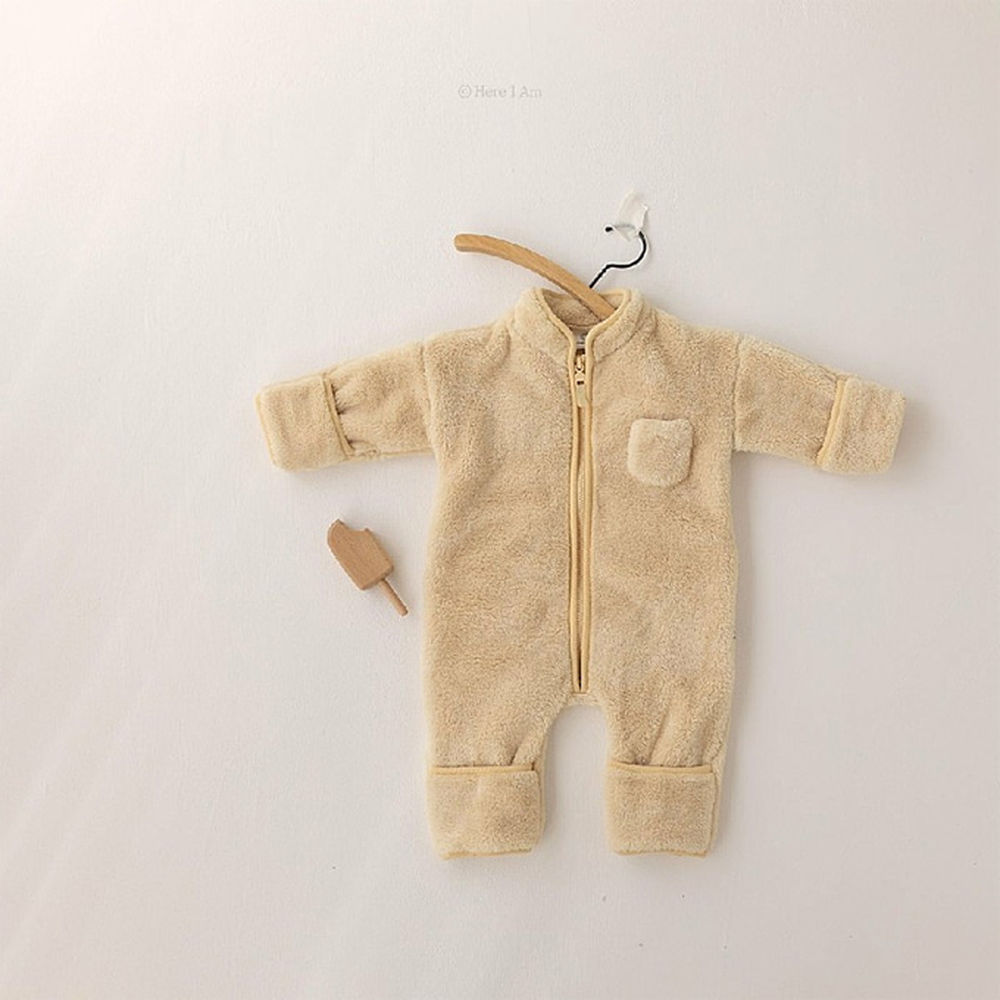 HERE I AM - BRAND - Korean Children Fashion - #Kfashion4kids - Kinder Fleece Bodysuit