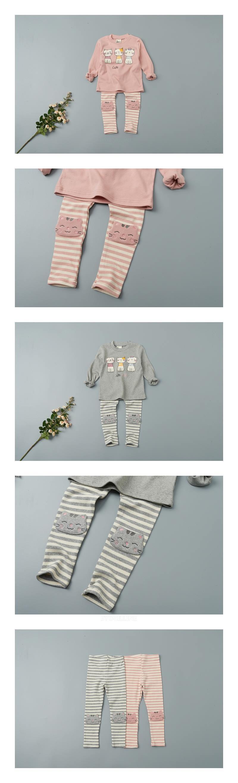 JAM - Korean Children Fashion - #Kfashion4kids - Stripe Cat Leggings