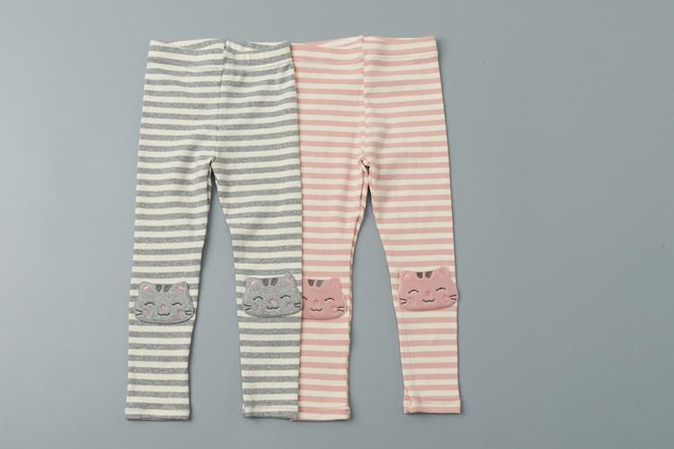 JAM - BRAND - Korean Children Fashion - #Kfashion4kids - Stripe Cat Leggings