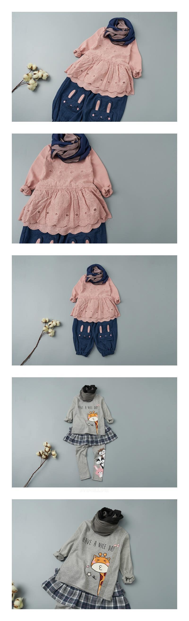 JAM - Korean Children Fashion - #Kfashion4kids - Colored Muffler