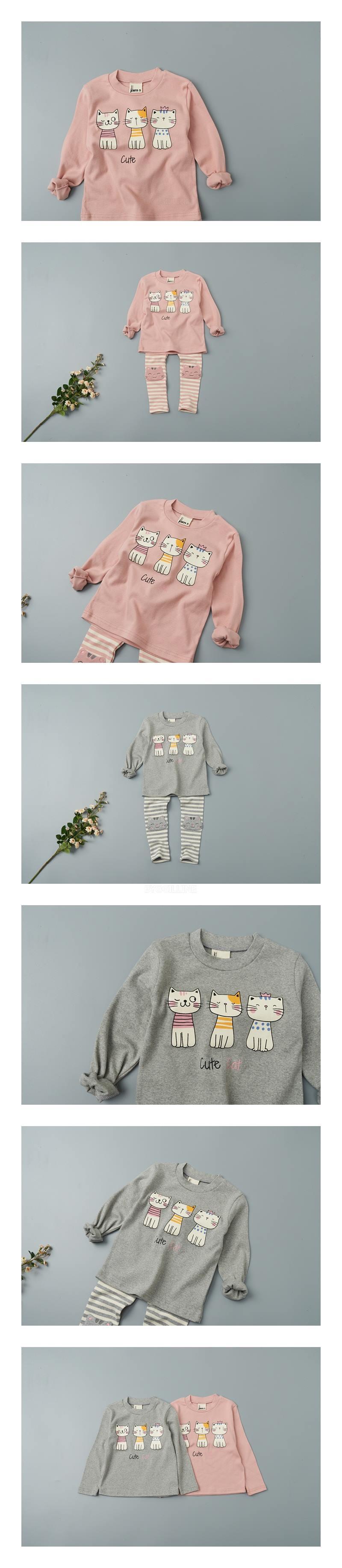 JAM - Korean Children Fashion - #Kfashion4kids - Cats Tee