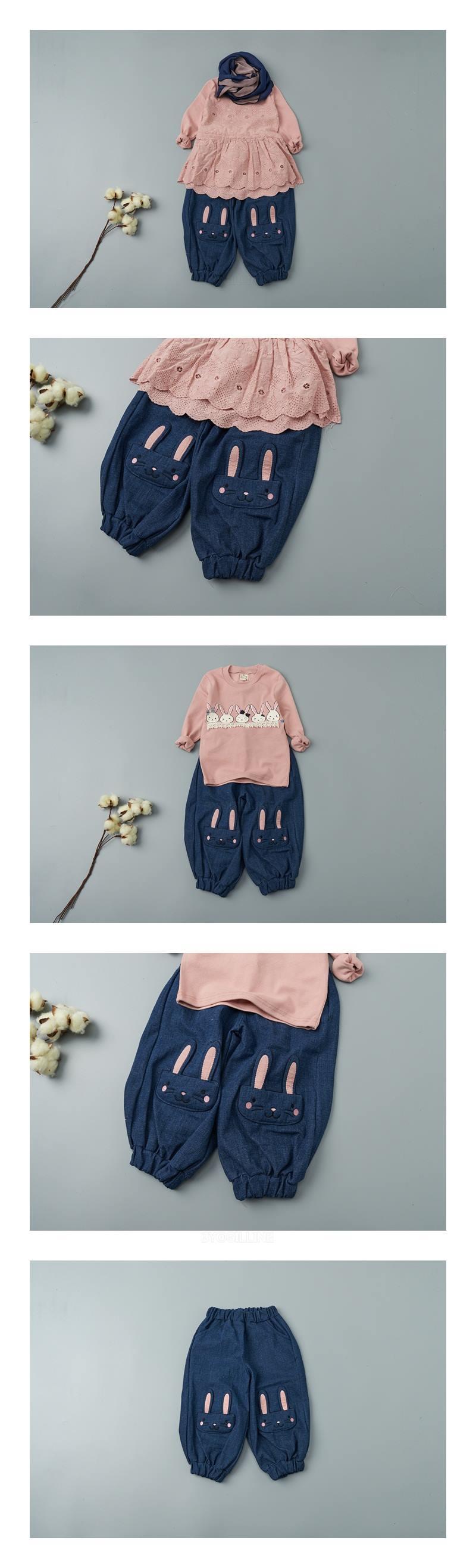 JAM - Korean Children Fashion - #Kfashion4kids - Rabbit Denim Pants