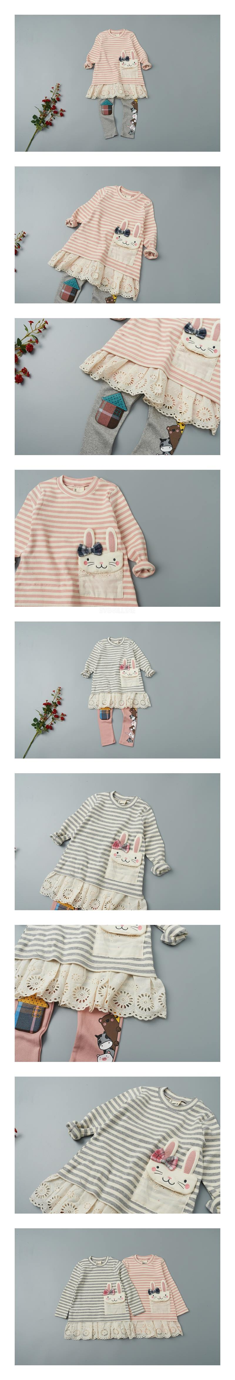 JAM - Korean Children Fashion - #Kfashion4kids - Rabbit Pocket One-piece