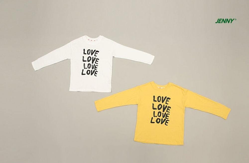 JENNY BASIC - Korean Children Fashion - #Kfashion4kids - Love Tee
