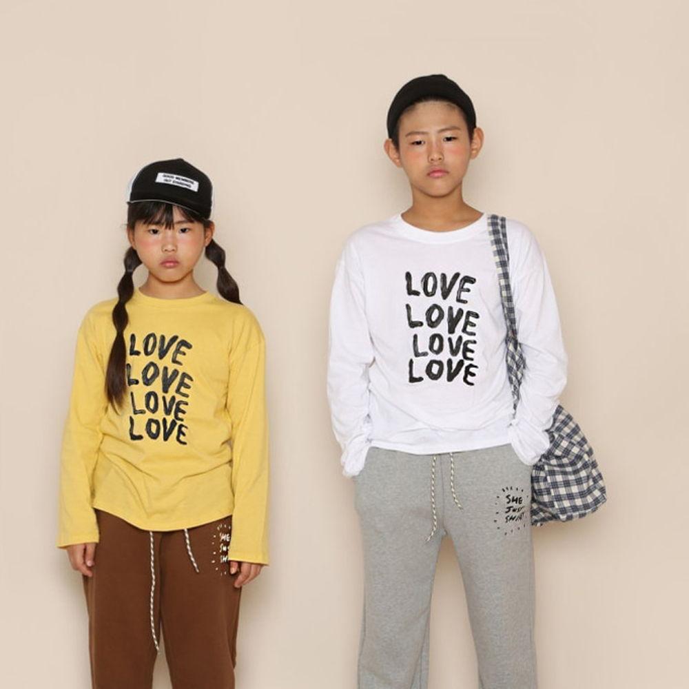JENNY BASIC - BRAND - Korean Children Fashion - #Kfashion4kids - Love Tee